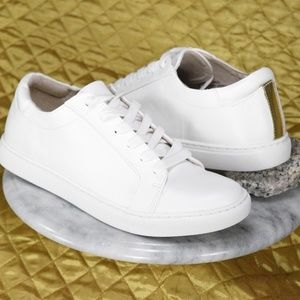 Kenneth Cole White Sneakers JOEY Size Womens 8.5 M